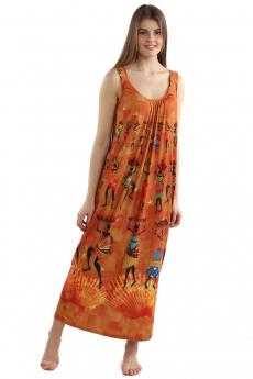 Новинка: длинный оранжевый сарафан  Bast