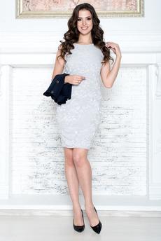 Платье футляр без рукавов Angela Ricci со скидкой