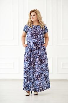 Длинное платье из штапеля Шарлиз