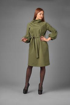 Платье с объемными рукавами Трикотажница