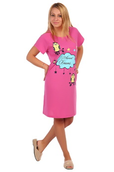 Розовая футболка-сорочка ElenaTex