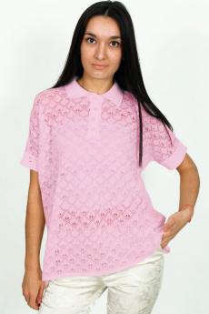 Розовый летний джемпер-поло Kvinto