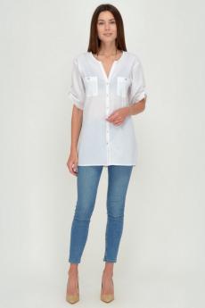Белая хлопковая блуза Viserdi