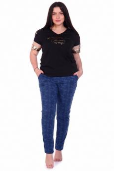 Синие хлопковые брюки Кетлен